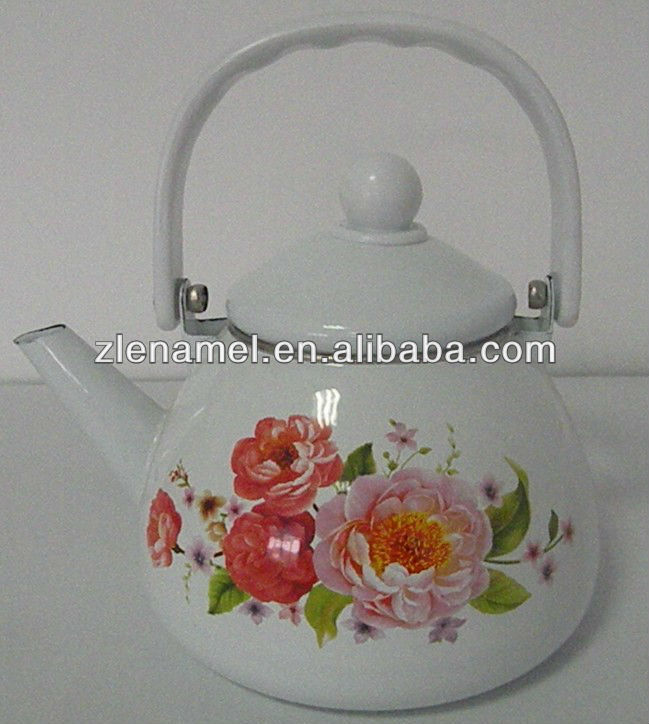 white enamel kettle