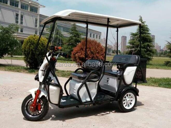 Half Closed fashional Battery operate passnger electric tricycle rickshaw for adults