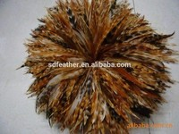 manufacturer wholesale rooster saddle hackle feather 10-15cm red chinchilla hackle strung