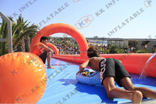 durable Inflatable City Slip Slide for Giant Event , Long Inflatable Street Water Slide for Town