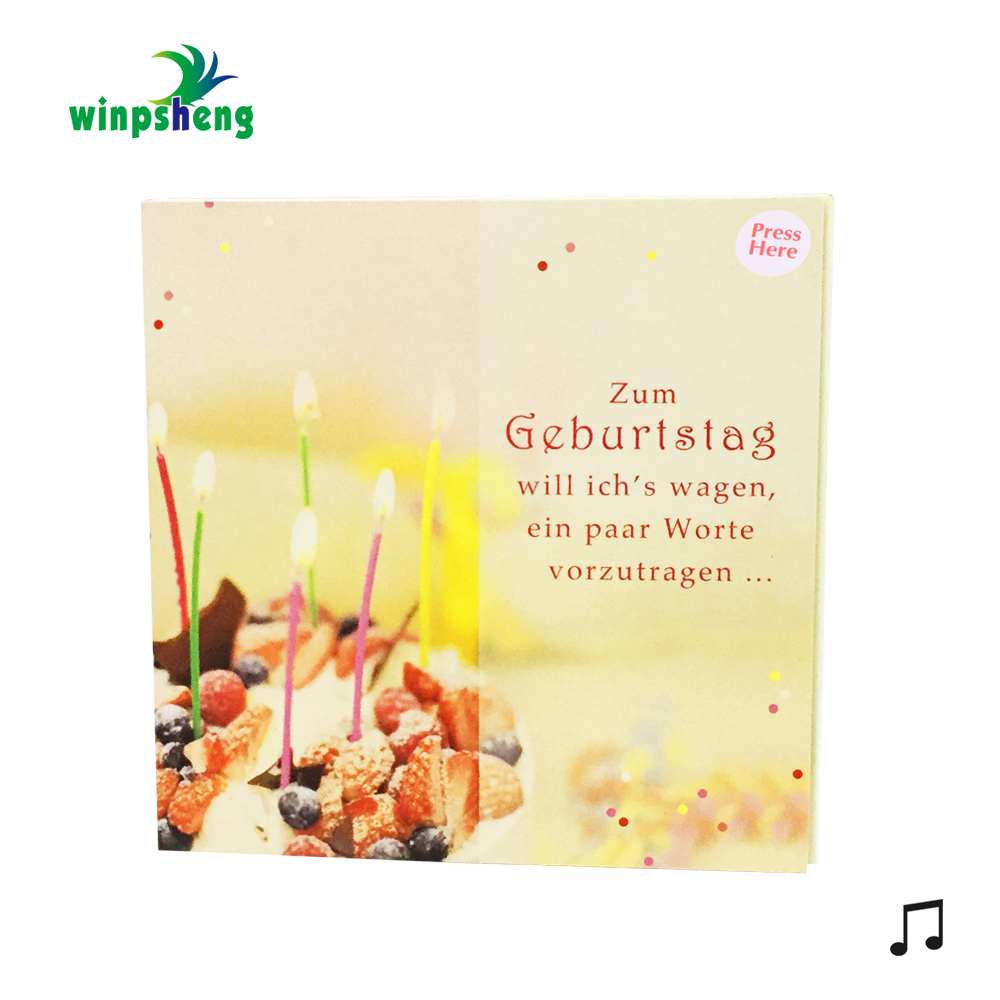 Custom Paper Craft Birthday Sound Musical Greeting Card