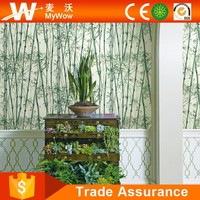 Bamboo Wallpaper / Flocking Wallcovering Wallpaper for Home Decor