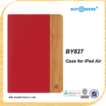 hot wholesale leather wood case for Ipad 2 3