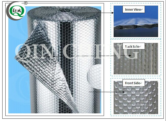 Cheap fire resistant aluminum foil bubble insulation sheet for metal roof insulation