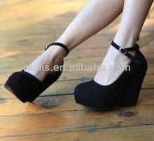 wedges 2013 hot China women dress black nice shoes X26
