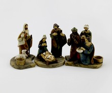 Resin Religious Holy Family Christmas Nativity Set Statue Wholesale
