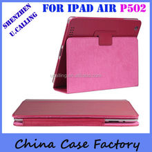 10 Colors PU Leather Case For iPad Air Smart Case With Retailing Packing