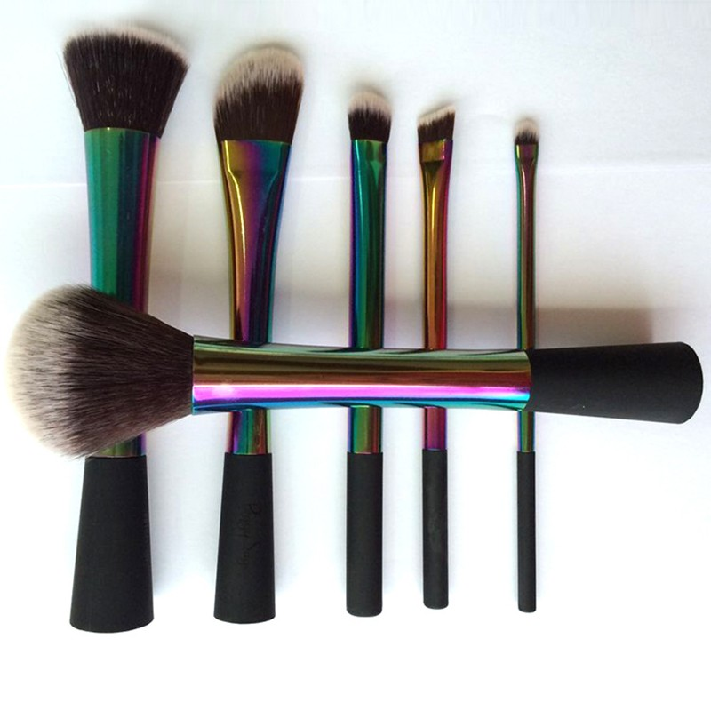 Top Professional Colorful Aluminum Makeup Brush Set Rea 6PCS makeup Brush Set