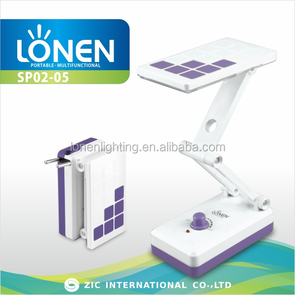 LONEN small 14SMD dimming collapsable rechargeable battery cordless table lamps