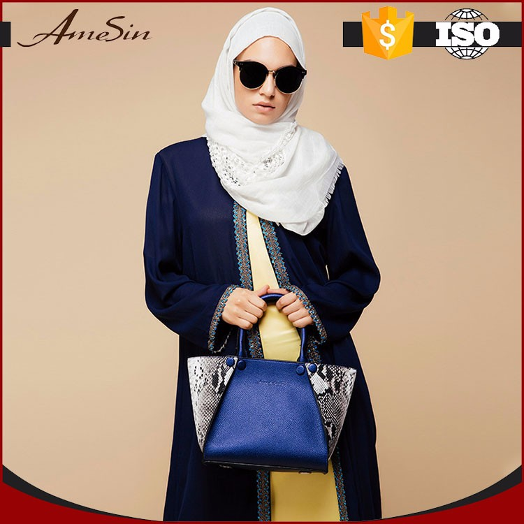 AMESIN Latest Abaya Designs Front Open Abaya Online Shopping