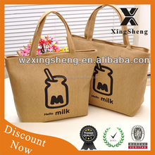 2015 new style promotion recyclable burlap bags with handles with high quality