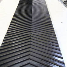 rib profiled chevron conveyor belting, EP/NN/CC conveyor rubber belt