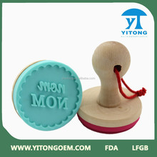 Funny Shaped Promotional FDA Approved Silicone Cookie Stamp