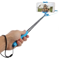 Wholesale HAWEEL Mini Multifunction Wire Controlled Extendable Selfie Stick Monopod, Max Length: 70cm