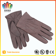 FT FASHION Top Grade Genuine Cow Leather Gloves, Outside Sewed