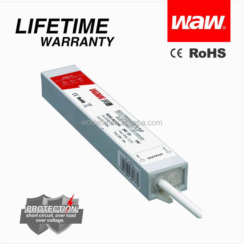 CE RoHS approved 20W 12V 1.67A waterproof LED driver BG-20-12