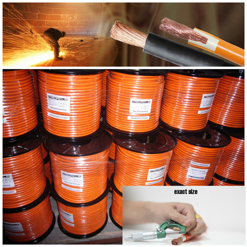 BS standard rubber flexible copper welding cable rubber flexible copper welding cable argon gas welding damage