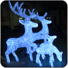 light up outdoor white lighted animated christmas reindeer