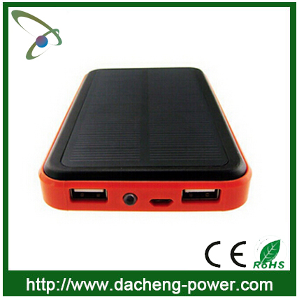 10000 mAH solar mobile phone battery charger with waterproof design
