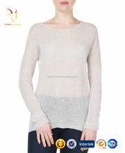 Winter Pullover Knit Bulky White Sweaters Top