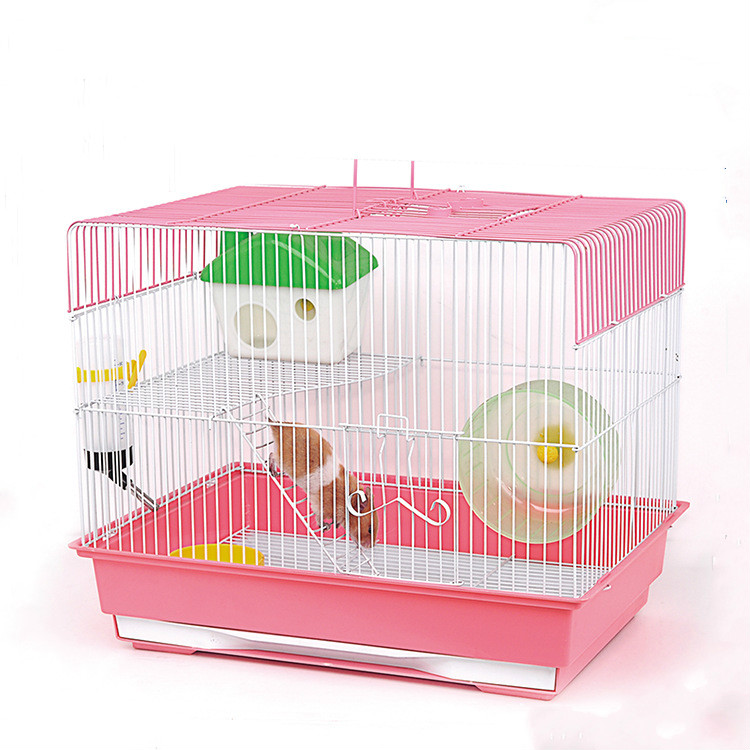 China Pink Large Hamster Cage,Pet Cages For Sale