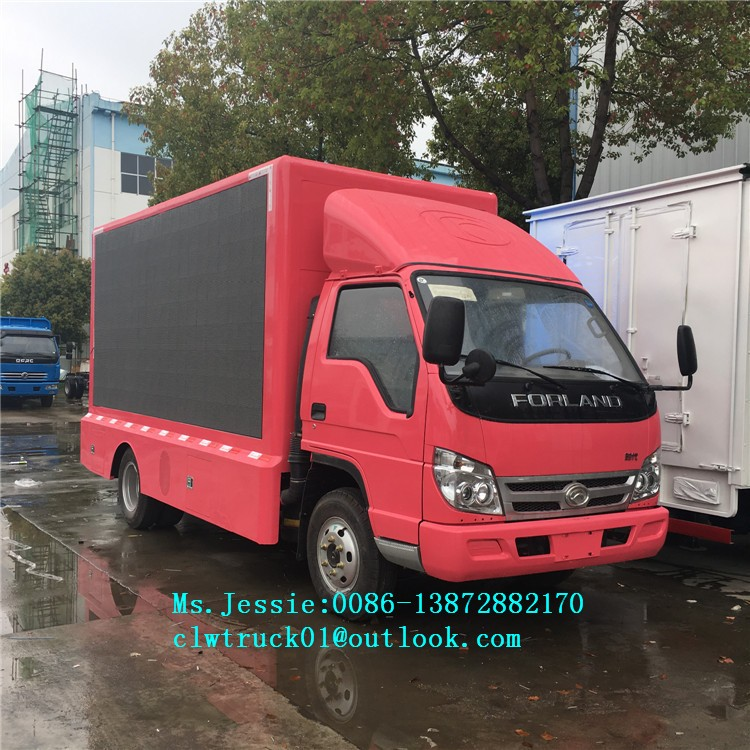 Factory direct led screen advertising trucks waterproof mobile led video truck for sale