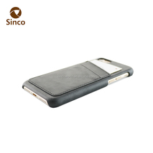 Ultra thin High quality leather back cover case with card slots phone case with wallet for iphone