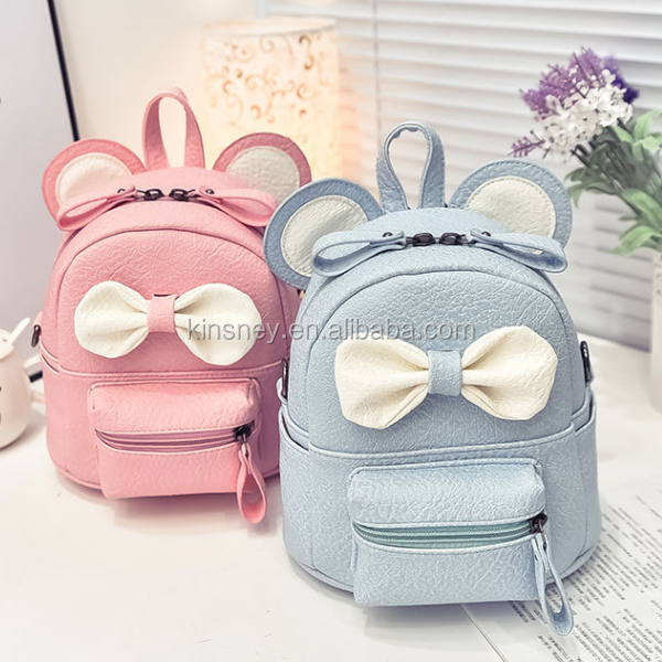 KS40048bag 2016 factory wholesale bowknot decoration bags for kids