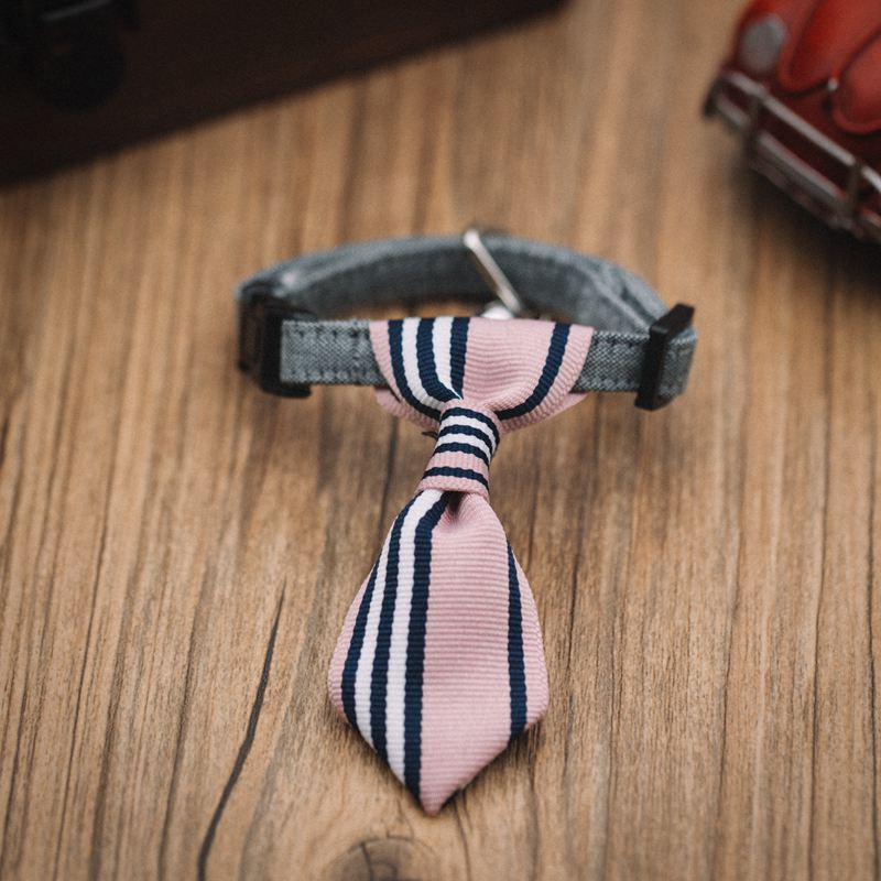 Pet accessories polyester dog bow tie,dog collar leather