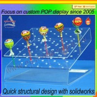 desk top hot sale acrylic lollipop display stand for retails store