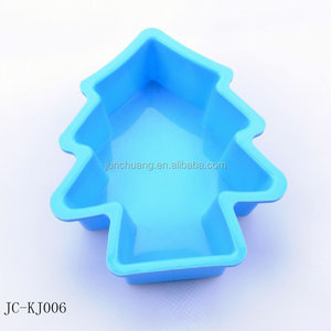 Merry christmas tree shape silicone mould bakeware