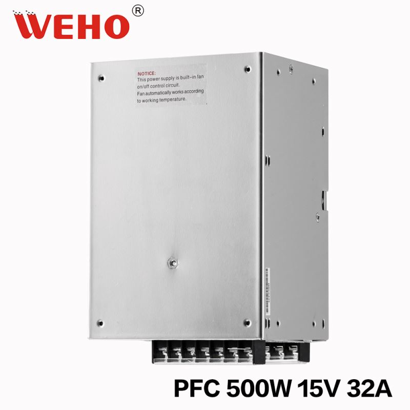 15v 32a single output 500w led power supply with PFC