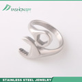 Mens wrench design stainless steel casting ring