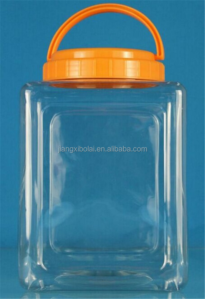 5L PET Clear plastic candy Jar bottles/Food container