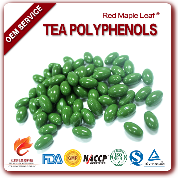 Slimming Green Tea Polyphenols L-theanine Chewable Tablets Pellets Pills