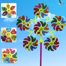 Classic children toy garden decorations outdoor Six leaf windmill sets