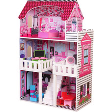 2018 New Arrival Cheap Wooden Toy Doll House For Christmas Gift