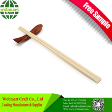 Individually disposable bamboo chopstick with semin paper package