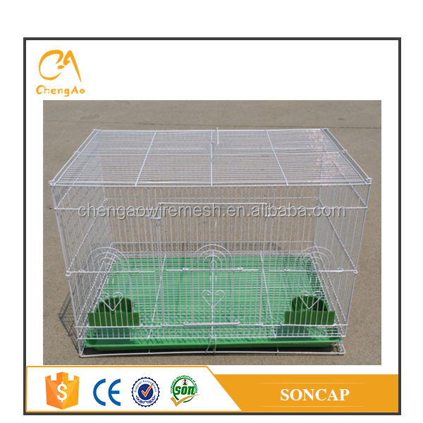 Cheap price pvc coated bird breeding cage