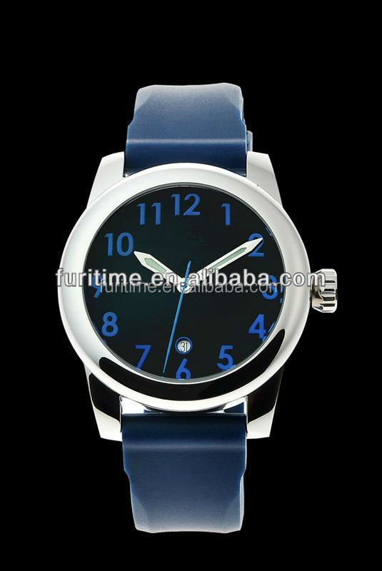 Luxury stainless steel oversized watch silicone oversized watch for men