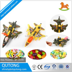 Pull back plane toy candy sweet wholesale for children play