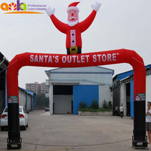 Inflatable decorative christmas arches for walmart xmas decorations(outdoor,nylon fabric,celebration)