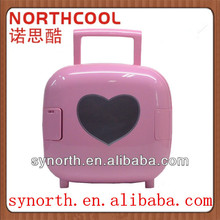 4L colorful lovely Mini Travel Fridge CE approval car cooler