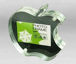 OEM apple shape acrylic photo frame wholesale