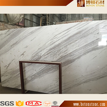 Popular Italian White Marble 24x24 white Jazz VOLAKAS marble tiles For Interior projects