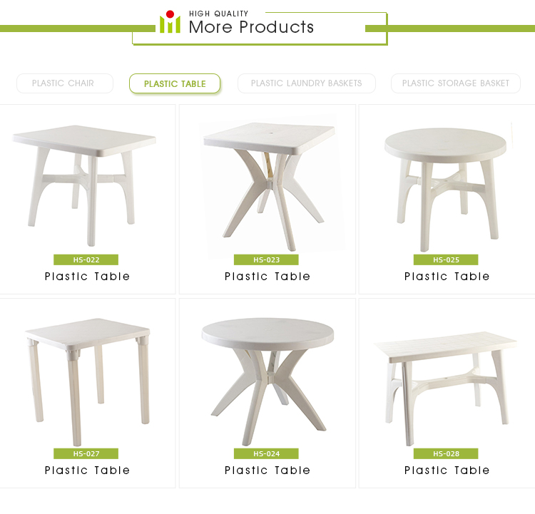 New Designed Modern PP White White Plastic Table