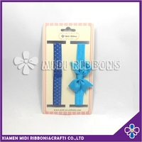 plain royal blue baby girls hair accessories wholesale christmas bow headband