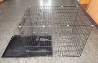 folding steel dog crate