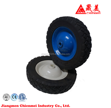 High quality solid 6 x 2 rubber drive wheel