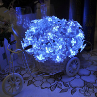 6M 60leds Led String light Battery Powered Lotus Flower Indoor Outdoor Xmas Decoration Farry Lights